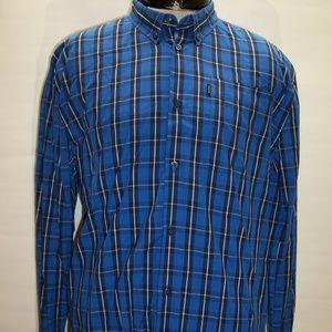 WESC Mens XL X-Large Plaid long sleeve Button-up s